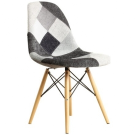 Patchwork Chair Grey
