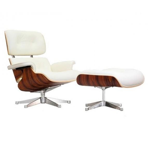 Replica Eames Lounge Chair com pé cromado por <span class='notranslate' data-dgexclude>Charles & Ray Eames</span>