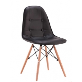 Cadeira estofada estilo Eames furmod