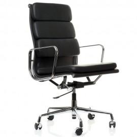 Cadeira de escritório Soft Pad HighBack em couro granulado