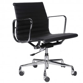 Alu Office Chair in Full Grain Leather