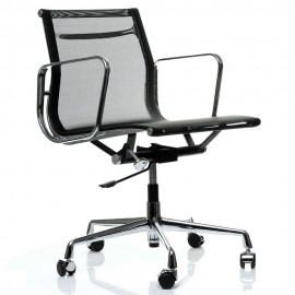 Replica Aluminum EA107 office chair by Charles & Ray Eames.