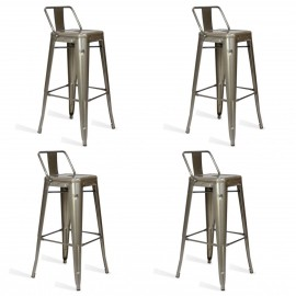 Pack 4 industrial stools Bistro LB