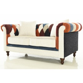 Chesterfield Patchwork Sofa 2 Seater