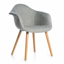 Boar Fabric XL Chair Grey