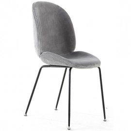 Harlem Chair in Grey Velvet