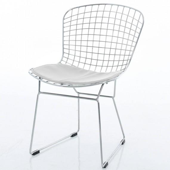 Chrome Bertoia chair replica by Harry Bertoia