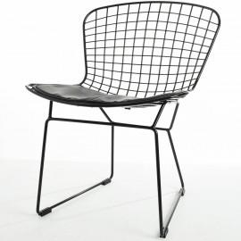 Réplica da cadeira Bertoia em aço preto por Harry Bertoia