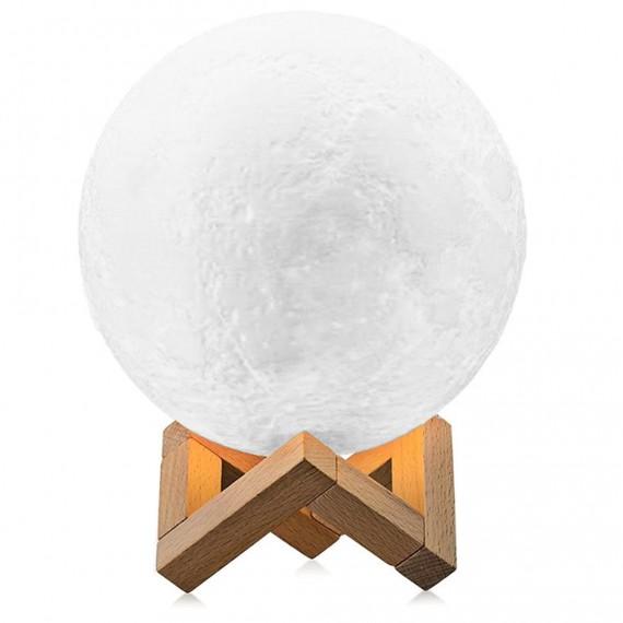 Lámpara de Luna en 3D Luz LED con 15 cm de Diámetro y Conexión USB