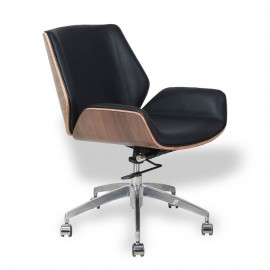 Nordic Lowback Office Chair in Italian leather