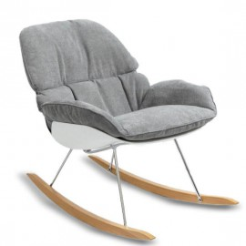 Replica Bay Rocking Chair design cadeira de balanço com almofada cinza