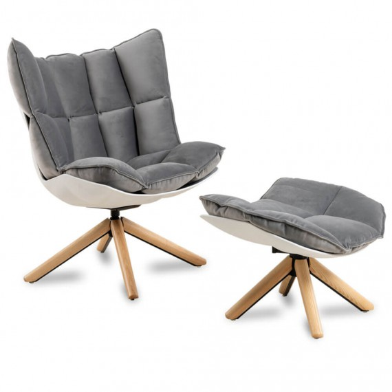 Replica of the designer Husk Armchair with footrest by the magnificent designer Patricia Urquiola