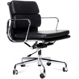 Soft Pad Office Chair in Full Grain Leather