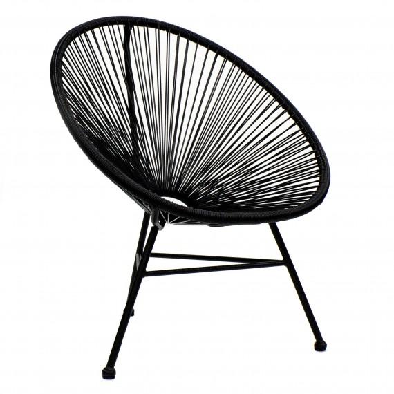 Réplica silla Acapulco en Rattan natural de 3 patas para exterior