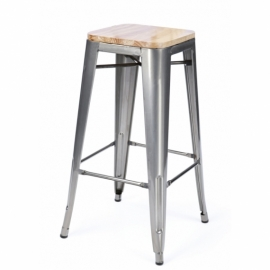 Industrial stool Bistro Wood Style