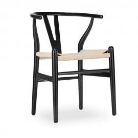 Réplica da cadeira Wishbone CH24 em madeira colorida