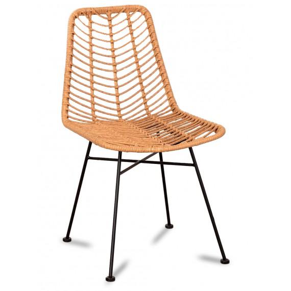 Cadeira Le Midi em rattan adequada para exterior