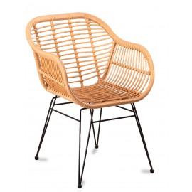 Cadeira Le Midi com braços em Rattan Natural