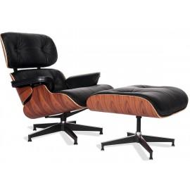 Replica Eames Lounge Chair em couro anilina e madeira Palissandro por <span class='notranslate' data-dgexclude>Charles & Ray Eam