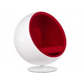Cadeira Ball Chair em flanela e fibra de vidro