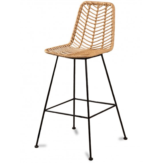 Le Midi Stool in Rattan Perfect For Outdoor