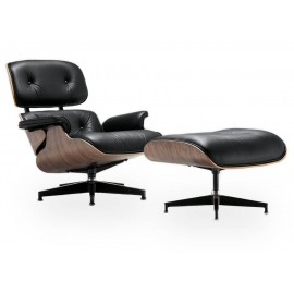 Eames Lounge Chair Replica in Cognac Brown Leather by Charles & Ray Eames