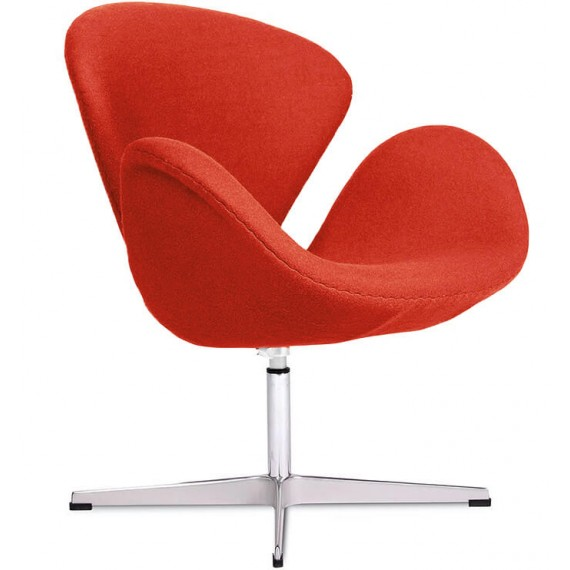 Réplica de la silla Swan en cachemir de Arne Jacobsen