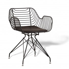 Meridian steel chair suitable for outdoor