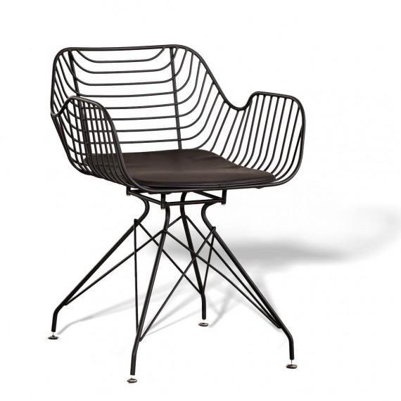 Meridian steel chair suitable for outdoor