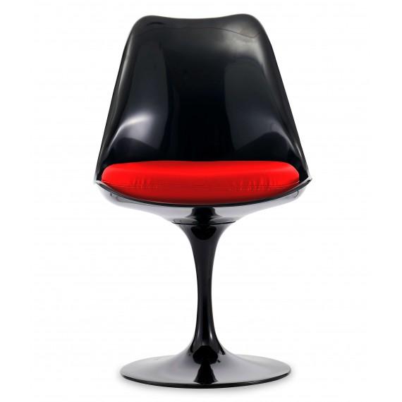 Réplica da cadeira Tulipa toda preta do famoso designer Eero Saarinen