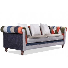 Chesterfield Patchwork 3 Lugares