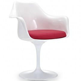 Cadeira Tulip Arms com almofada de algodão