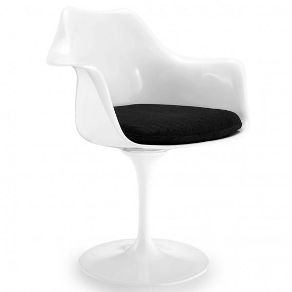 Réplica da cadeira Tulip com braços e almofada