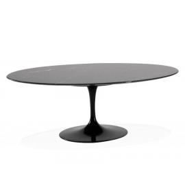Tulip coffee table replica in Marquina marble