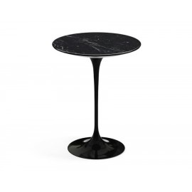 Tulip Side table replica in marquina marble