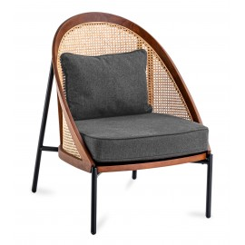 Robin chair in natural rattan and cotton cushion with Nordic style