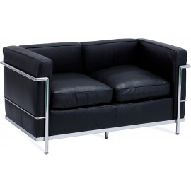 Inspiration Beckham 2 Seater Sofa in Aniline Leather modern style