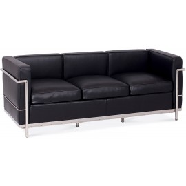 Inspiration Beckham 3 Seater Sofa in Aniline Leather modern style