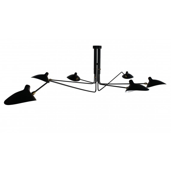 Inspiration from the Mouille Pendant 6 Arms Lamp