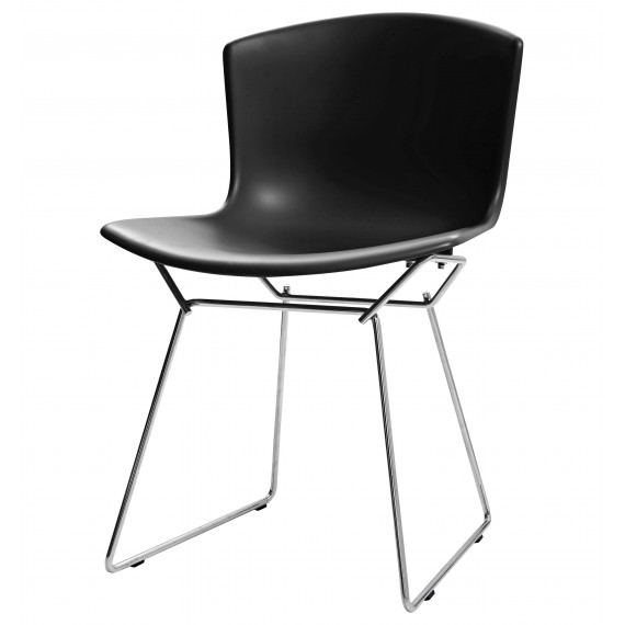 Inspiración Silla Bertoia con asiento de plástico y patas de acero