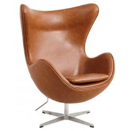 Sillón Egg Chair en Polipiel Encerada Vintage