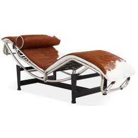 Chaise Lounge LC4 replica in pony leather