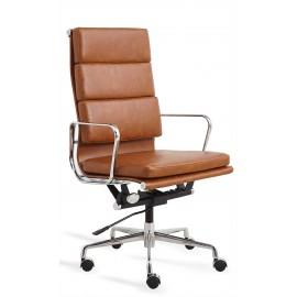Cadeira de escritório Replica Soft Pad EA219 em couro sintético