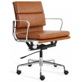 Replica Soft Pad office chair in worn leatherette