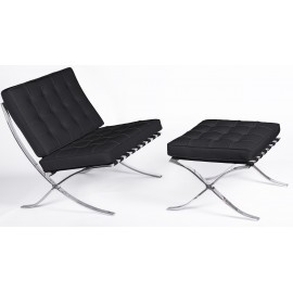 furmod Silla Barcelona Chair HQ con Ottoman