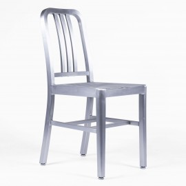 Navy Army chair replica in aluminum