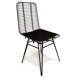 Cadeira de metal Yosemite adequada para exterior
