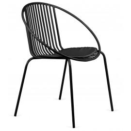 Cadeira balinesa em aço adequada para exteriores