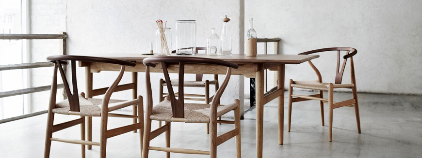 Replica of Nordic wooden chairs