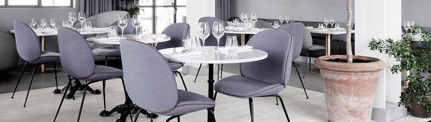 Réplique de chaises de salle à manger rembourrées